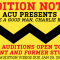 """You're a Good Man, Charlie Brown"" Audition Notice"